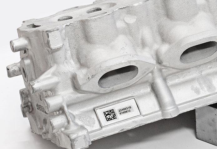 Automotive-Sample02 Лазерная гравировка в литейной промышленности