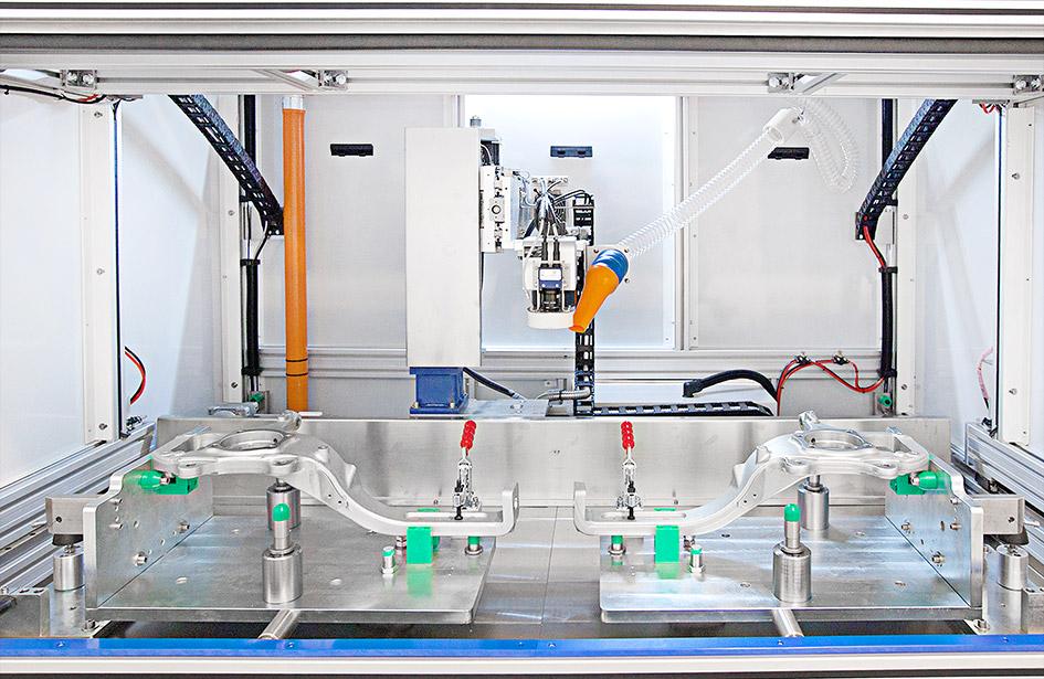 Orione-Interno Маркировать большие компоненты без простоя оборудования: лазерный маркер Orion